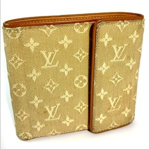 Louis Vuitton Mini Lin Beige wallet